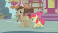 "Apple Bloom and Dr. Hooves ""Care to buy some apples?"" S1E12.png"