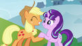 Applejack shakes hooves with Starlight S5E26.png