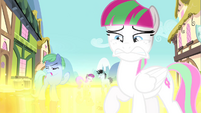 Blossomforth and ponies blinded by golden road S4E23