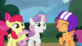 Cutie Mark Crusaders shout with confidence S6E19.png
