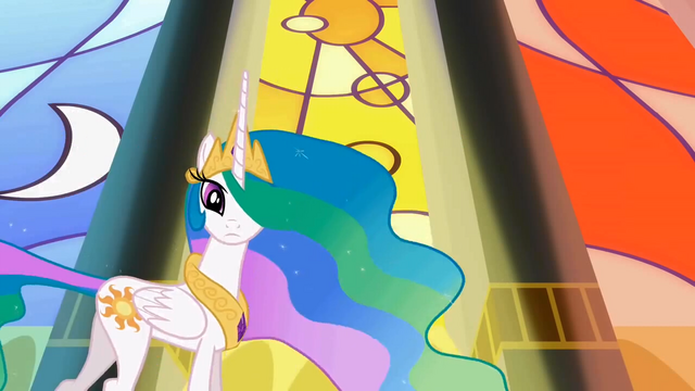 File:Celestia sees Twilight and her friends arriving S2E01.png