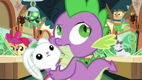 Spike hears the train pull out of the station S03E11