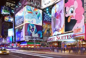 FANMADE Ponies on nyc billboards