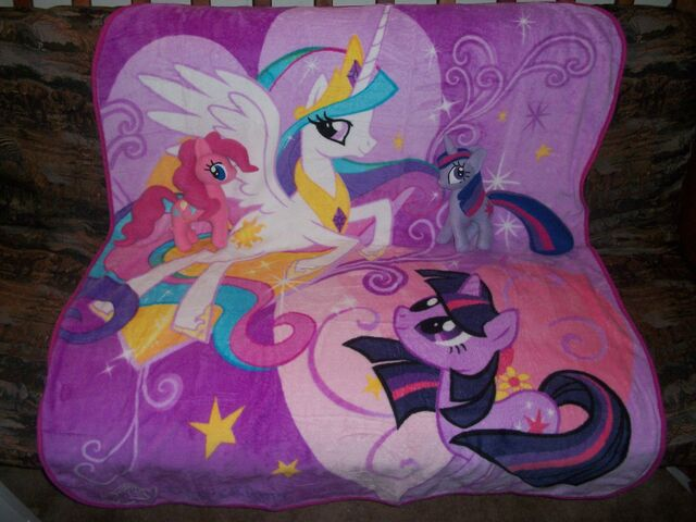 File:Pinkie Pie and Twilight plushies on the blanket.jpg