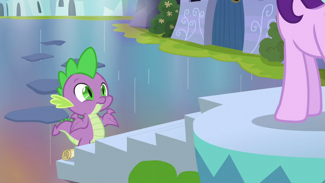 File:Spike shrugging at Starlight Glimmer S6E1.png