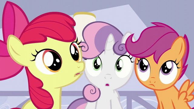 File:The Cutie Mark Crusaders hear Mrs. Cake S6E4.png