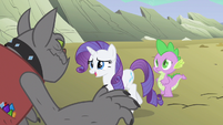 Rarity being cornered S1E19