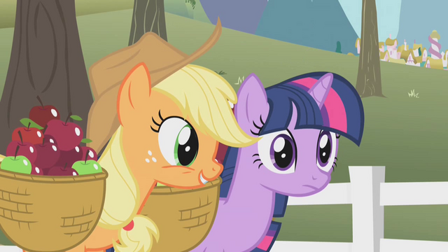 File:Applejack with Twilight S01E03.png