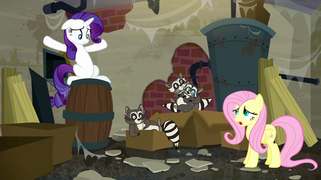 "File:Fluttershy ""Smoky made too much noise eating garbage"" S6E9.png"