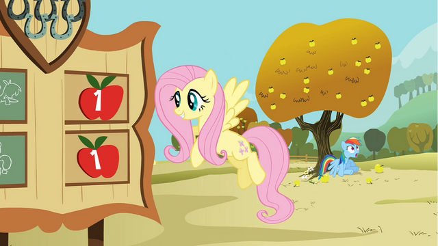 File:Rainbow Dash sits under an apple tree S1E13.png