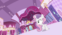 Sweetie Belle runs from living curtains S4E01