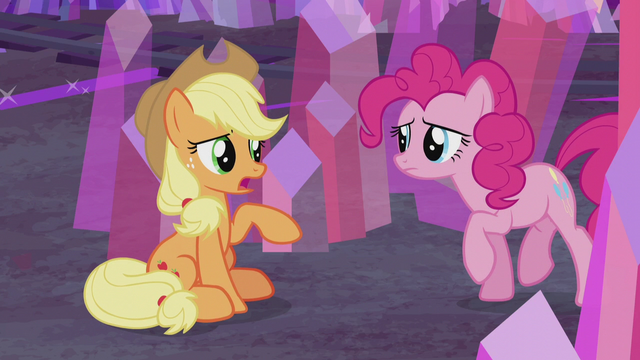 "File:Applejack ""what are YOU doin' here?"" S5E20.png"