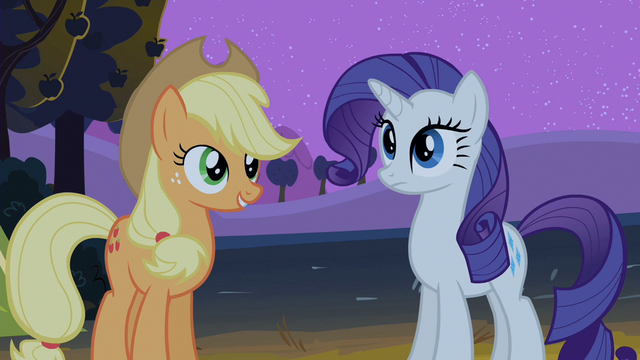 File:Applejack talking to Rarity S2E5.png