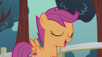 "Scootaloo singing ""now we know what it took all along"" S5E18"