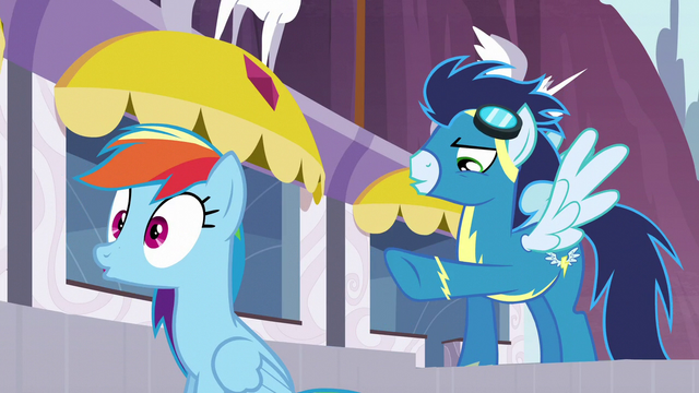 File:Soarin points at Rainbow S5E15.png