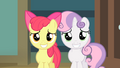 Apple Bloom and Sweetie Belle putting on a grin S4E05.png