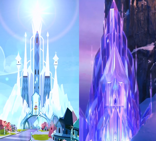 File:FANMADE Crystal Castle and Elsa's Castle comparison.png