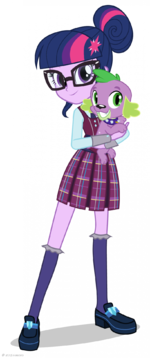 Friendship Games Twilight Sparkle and Spike artwork