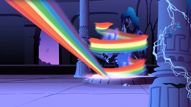 File:Nightmare Moon getting hit by the magical beam S1E2.png