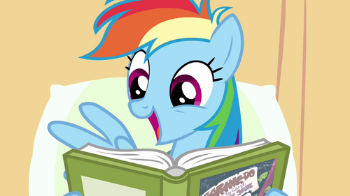 Rainbow Dash enjoys reading S02E16.png