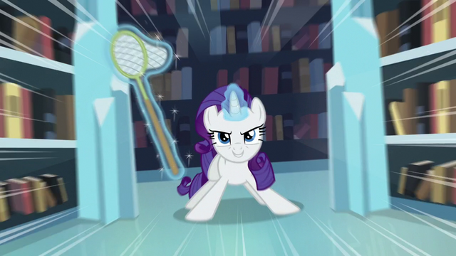 File:Rarity with a net S6E2.png