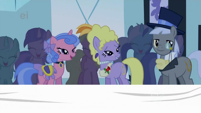 File:Royal Ribbon, Lyrica and Caesar admire Fluttershy S1E20.png