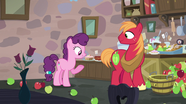 File:Sugar Belle pointing at baked goods on her shelf S7E8.png