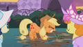 Applejack pulling a weed S02E09.png