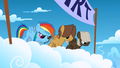 Filly Rainbow Dash and the colts on the starting line S1E23.png