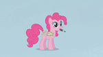 Pinkie Pie with a marker in her mouth S1E14