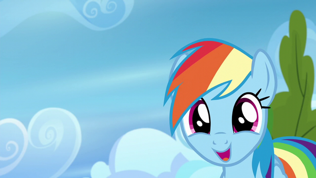 """File:Rainbow """"built by Admiral Fairweather himself!"""" S6E7.png"""