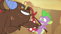 Brown dragon mocking Spike S2E21.png