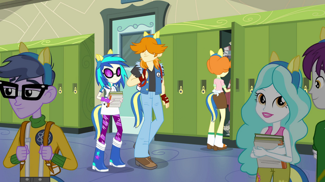 File:DJ Pon-3 and students with pony ears EG.png