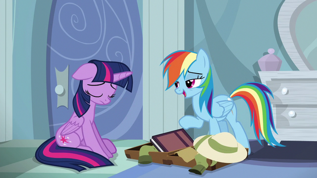 """File:Rainbow """"I'll make sure A. K. Yearling signs your book"""" S6E13.png"""