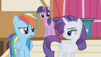 "Rarity ""did you see her mane?"" S1E04"