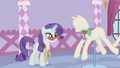 Rarity placing Applejack's collar in a mannequin S1E14.png