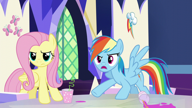"File:Rainbow ""accusing us of not being able to tell"" S5E22.png"