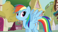 Rainbow Dash listening to Twilight S4E21