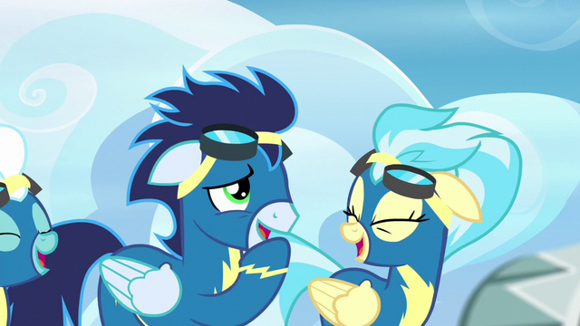 File:Soarin and Misty Fly laugh at Rainbow S6E7.png