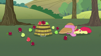 Apple Bloom falls over and drops her bucket S7E9