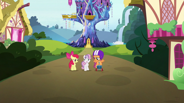 File:Crusaders walk away from Twilight's castle S6E19.png
