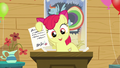 Apple Bloom shows a letter from Babs Seed S5E04.png