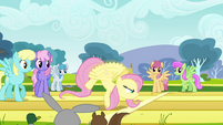 Fluttershy gaining full speed S2E22