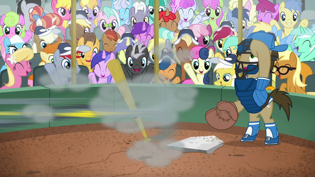 File:Gabby speeding off to first base S6E19.png
