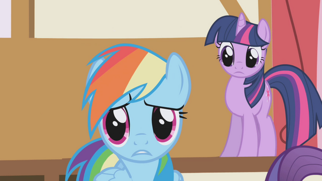 "File:Rainbow Dash ""tired?"" S1E04.png"
