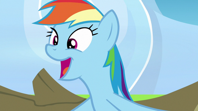 File:Rainbow Dash calling herself awesome S7E7.png