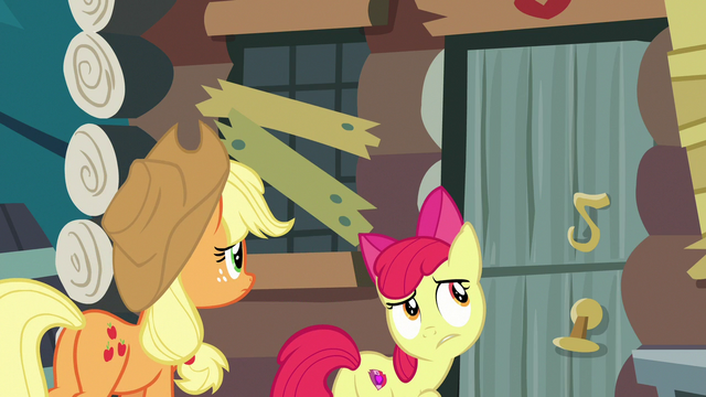 File:Apple Bloom hears commotion inside the house S7E13.png