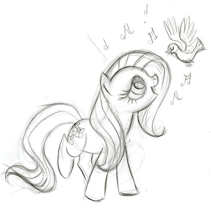 Line Art Vs Painting : ฟลัตเทอร์ชาย my little pony friendship is magic wiki