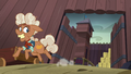 Ma Hooffield running away from McColts' fortress S5E23.png