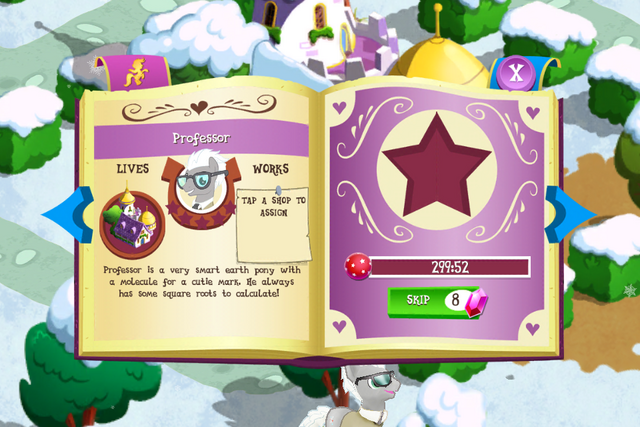 File:Professor album page MLP mobile game.png